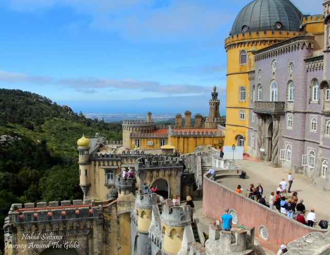 Breathtaking location of Pena Palace in Sintra, Portugal...as we saw it from Queen's terrace
