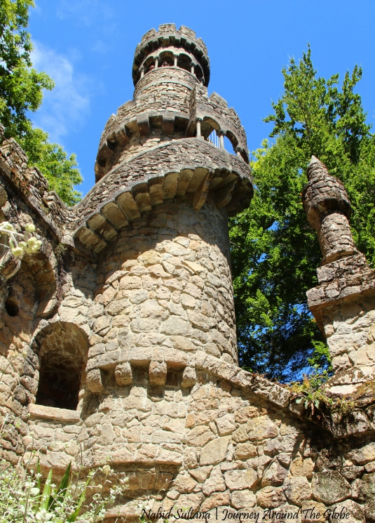 Regaleira Tower in Quinta de Regaleira in Sintra, Portugal