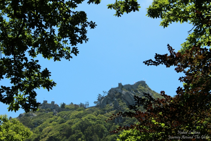 One of the gems of Sintra, Portugal - Moorish Castle as seen from Quinta de Regaleira