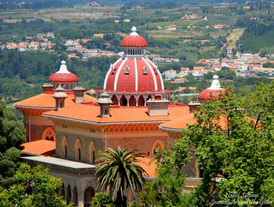Monserrate  Palace on a hill of Sintra in Portugal
