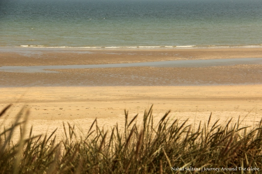Utah landing beach - an American landing site of D-Day Normandy Battle in Normandy, France