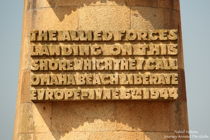 Tribute to our heroes from French people in Omaha Beach, France