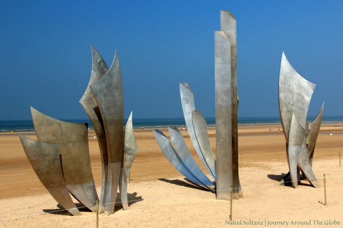 Another memorial in Omaha Beach, France - remembering the heroes on the 60th anniversary of D-Day invasion