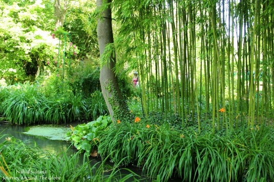 Claude Monet's garden and village in Giverny, France