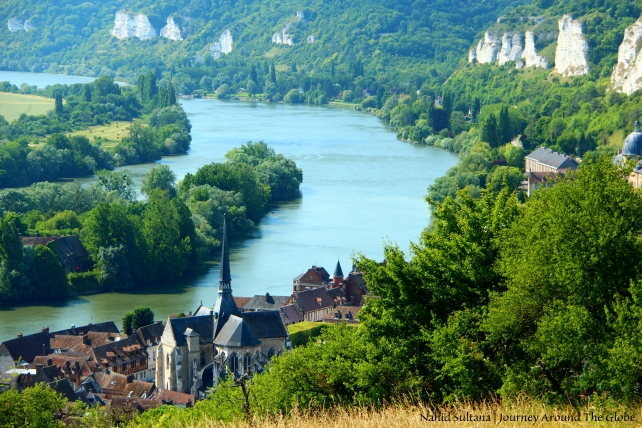 River Siene and surround near Chateau Gaillard in Normandy, France