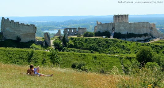Ruins of Chateau Gaillard in Normandy, France