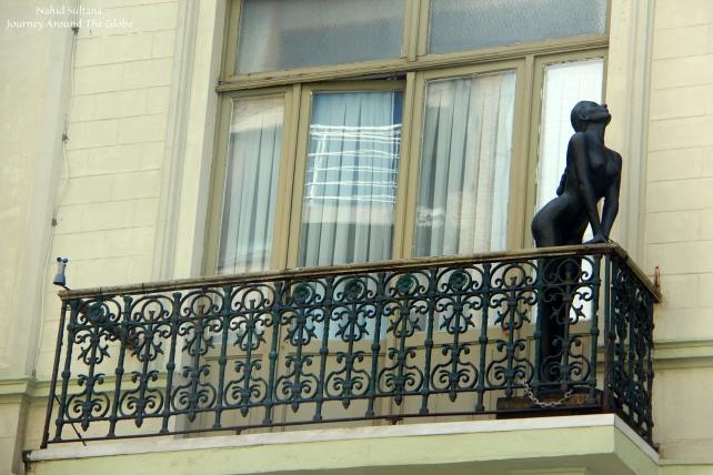 Saw this unique statue while walking around Ostend, Belgium