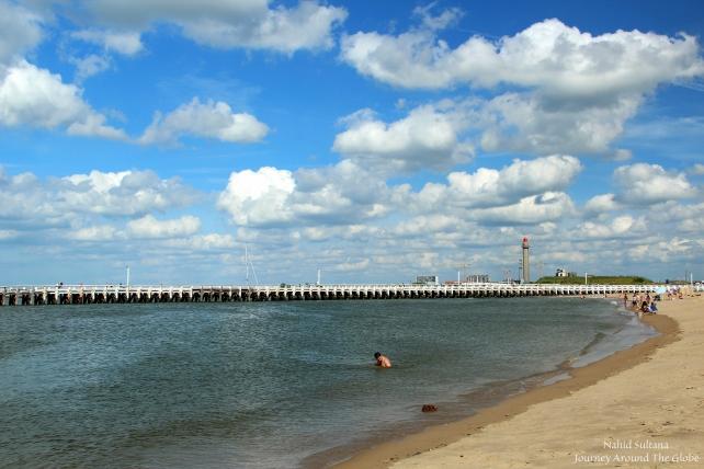 Ostend Beach in Belgium