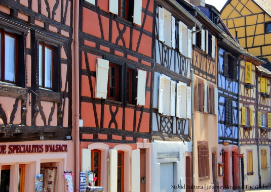 Vibrant color buildings of Colmar, France