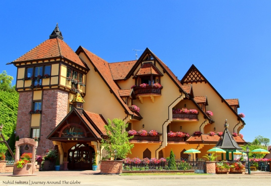 "Saw this beautiful hotel/resort while driving on ""Wine Route"" of Alsace, France"