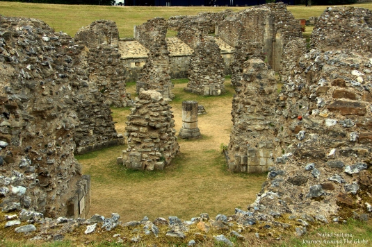 Ruins of St. Augustine's Abbey in Canterbury, England