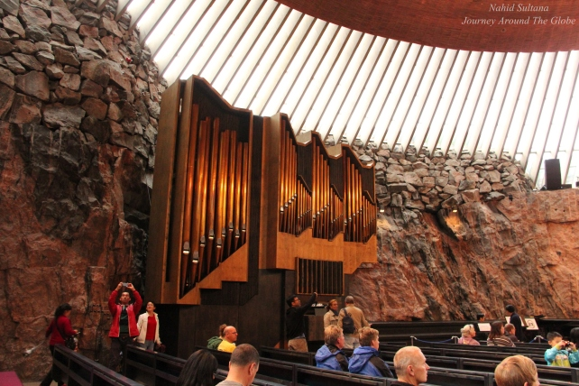 Rock Church, the most visited site in Helsinki