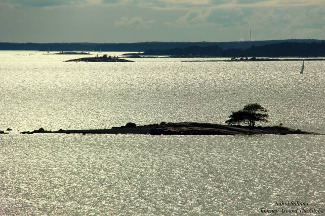 From our cabin balcony, by Helsinki coast