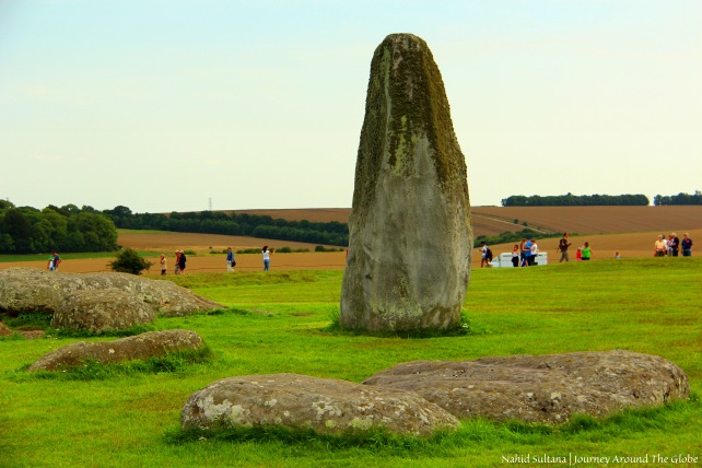 One of many stones of the ring of Stonehenge in England