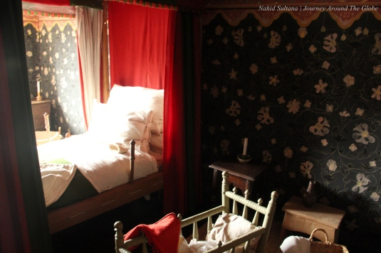 Birth room of Shakespeare in his house in Stratford-Upon-Avon in England