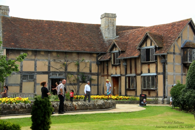 The house where poet Shakespeare was born in Stratford-Upon-Avon, England