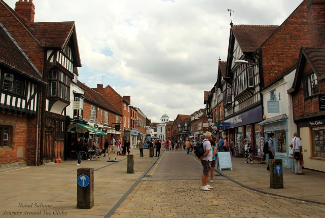 Old town of Stratford-Upon-Avon where the Birthplace of Shakespeare is located in England