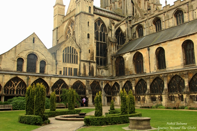 Cloister of Gloucester Cathedral in England