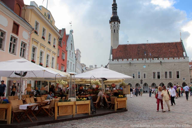 Old town hall of Tallinn in RAEKOJA PLATS