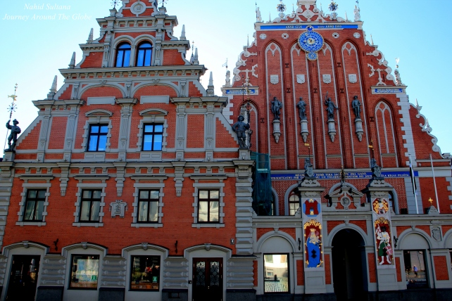 House of Blackheads in Town hall Square in Riga, Latvia