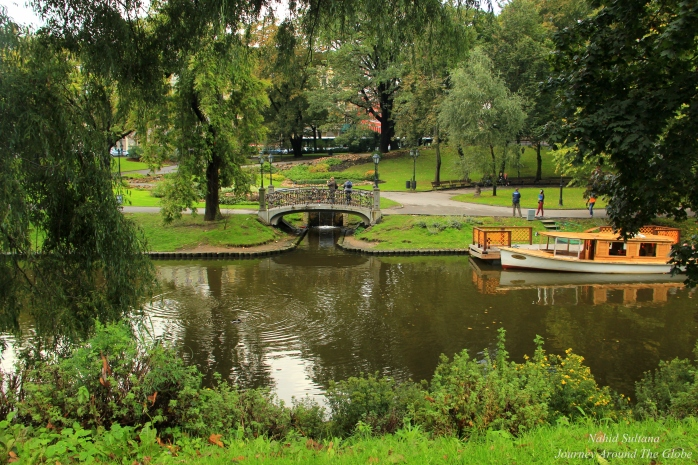 Bridge of Love in Esplanade Park of Riga