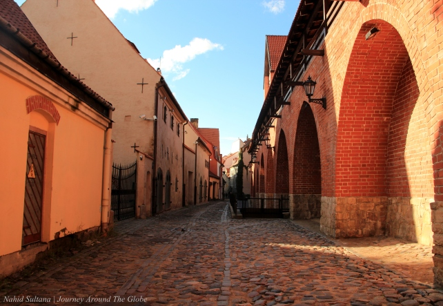Old city wall of Riga