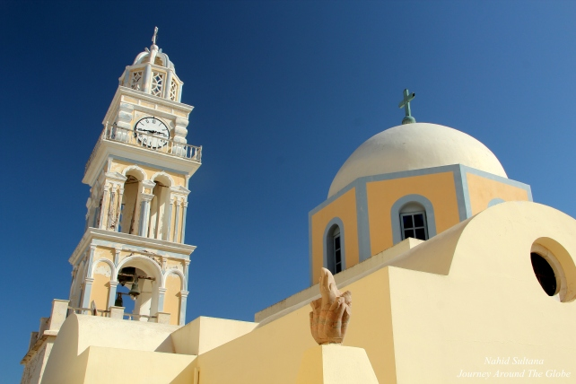 Catholic Cathedral of Saint John the Baptist in Fira, Santorini