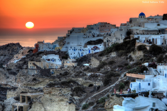 Sunset Oia - an HDR version