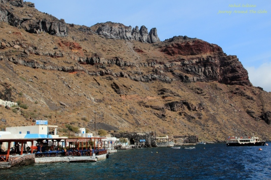 Island of Thirassia in Santorini, Greece