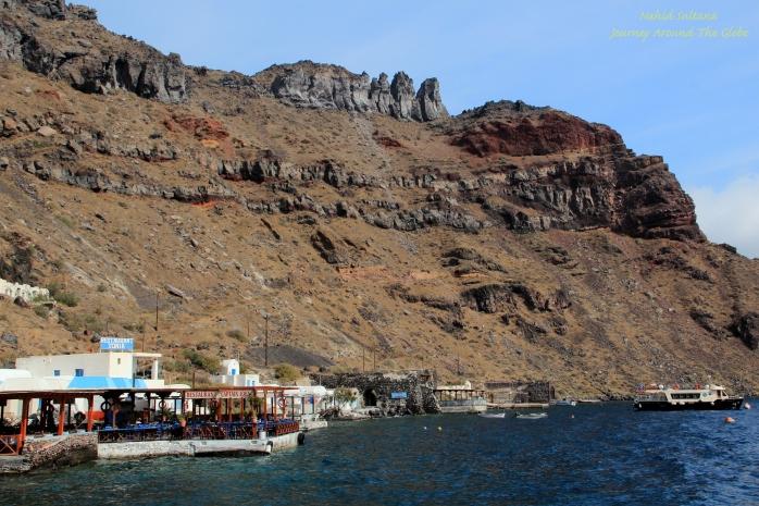 Island of Thirassia in Santorini, Greece