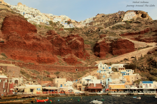 Ammoudi Bay at the foothill of Oia in Santorini, Greece