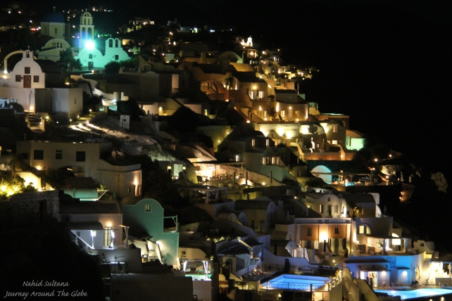 Oia at night