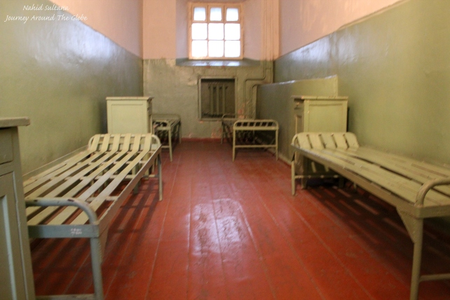A prisoner's cell in the basement of KGB Museum in Vilnius, Lithuania