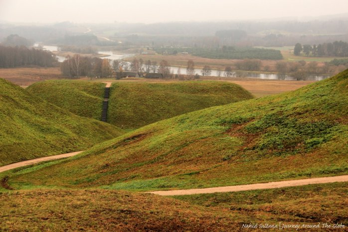 Historic mounds of Karnave in Lithuania