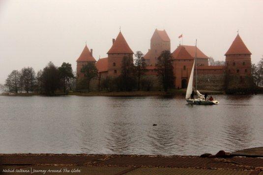 Trakai Island Castle on Lake Galve in Lithuania