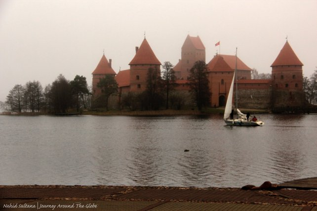 Trakai Island Castle on Lake Galve in Lithuania