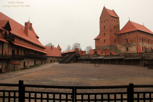 Inside Trakai Island Castle in Lithuania