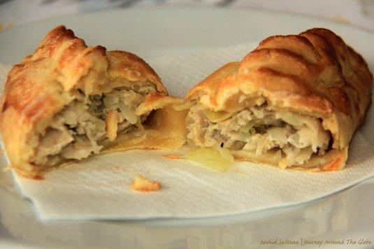 Kibinai - meat pastry, a specialty of Trakai