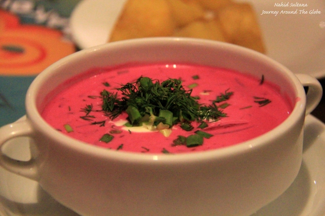 Cold beetroot soup...a very famous Lithuanian dish