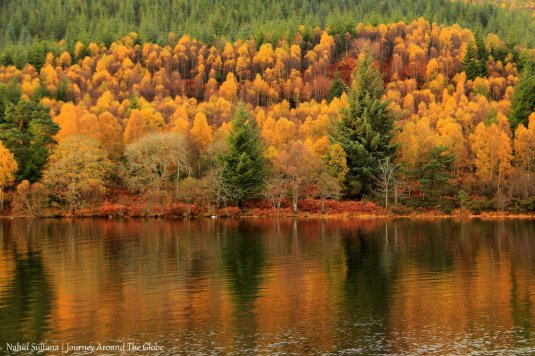 Fall in Scotland, while cruising on Loch Ness