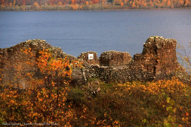 Urquhart Castle by Loch Ness in Scotland
