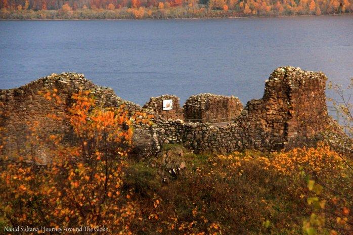 Urquhart Castle by Loch Ness in Scotland