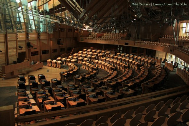 Debate Chamber of Scottish Parliament