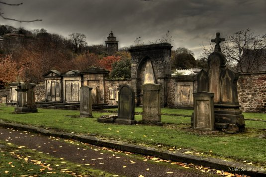 An old cemetery on Royal Mile