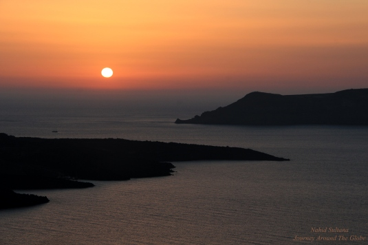 Sunset in Fira, Santorini