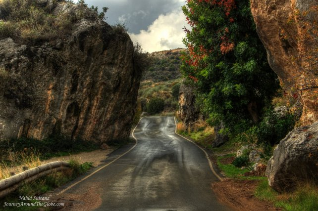 Roads in Troodos Mountains in Cyprus