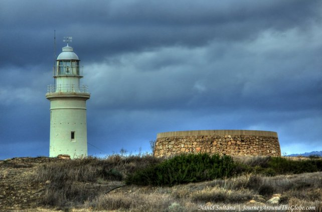 A lighthouse by the sea in Paphos Archeological site