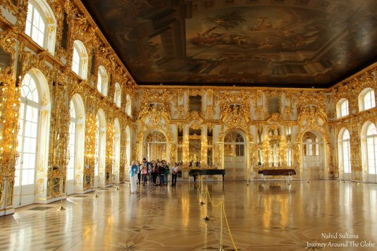 One of the big hall of Catherine's Palace in St. Petersburg