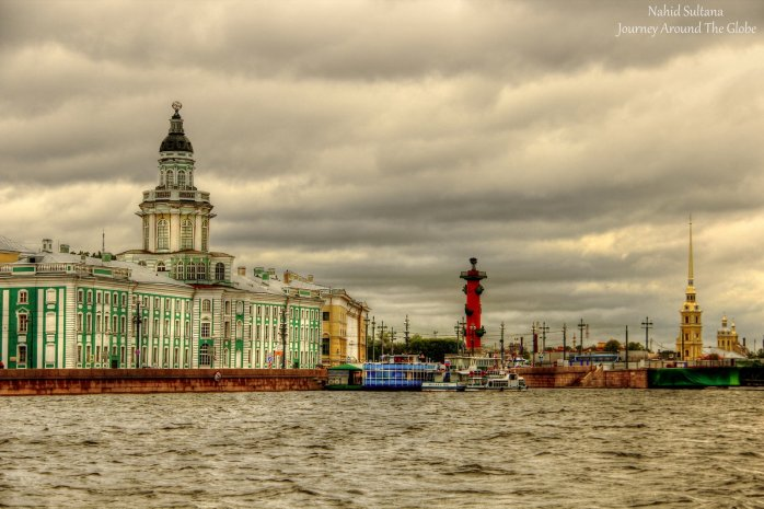 Glimpse of St. Petersburg by Neva River