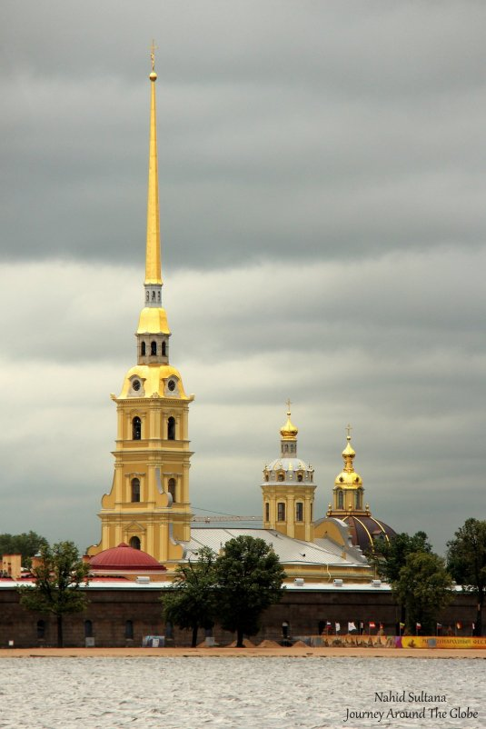 Peter and Paul Fortress by Neva River in St. Petersburg